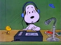 Snoopy with Headphones